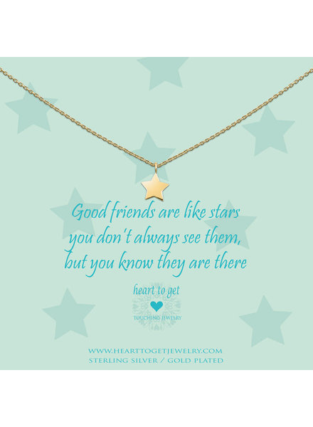 Heart To Get Necklace star gold
