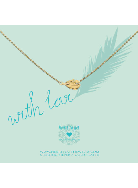 Heart To Get Necklace feather gold