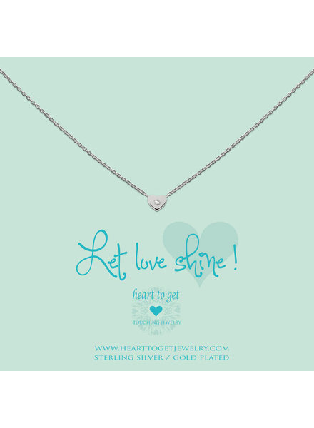 Heart To Get Necklace Heart zirkon silver