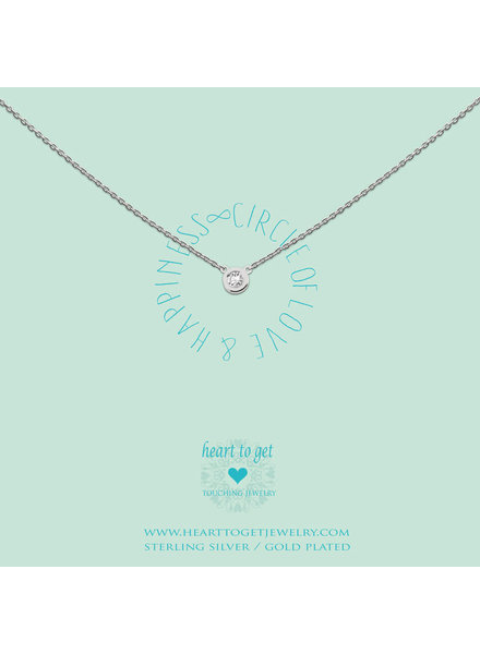 Heart To Get Necklace Circle zirkon silver