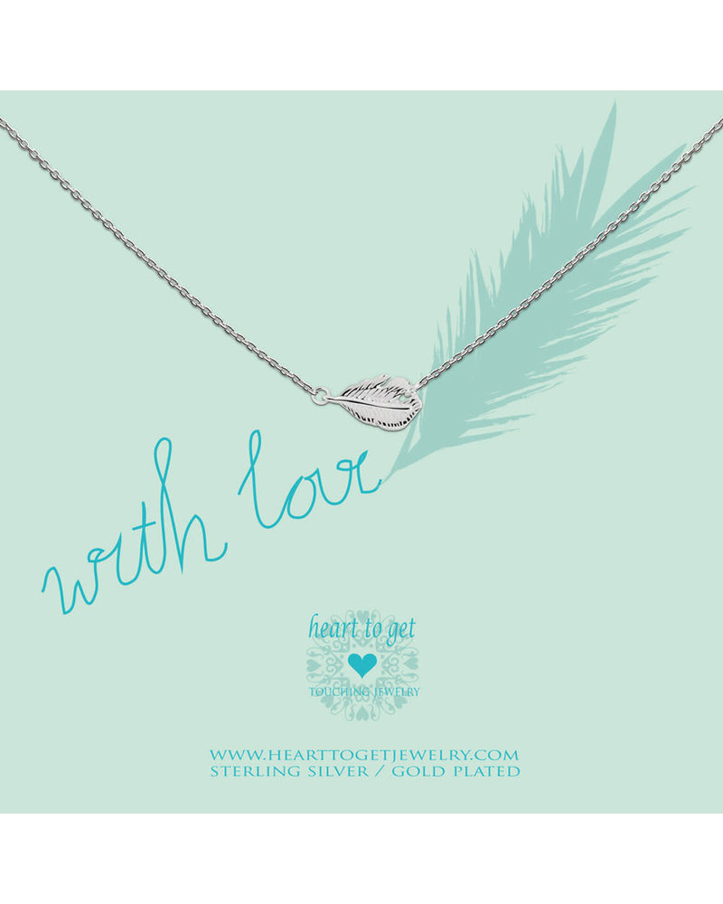 Heart To Get Necklace feather silver