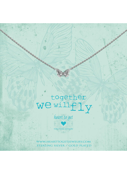 Heart To Get Necklace butterfly silver