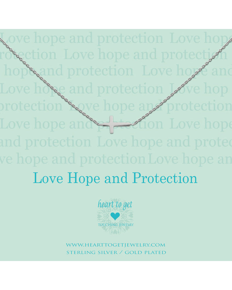 Heart To Get Necklace cross silver