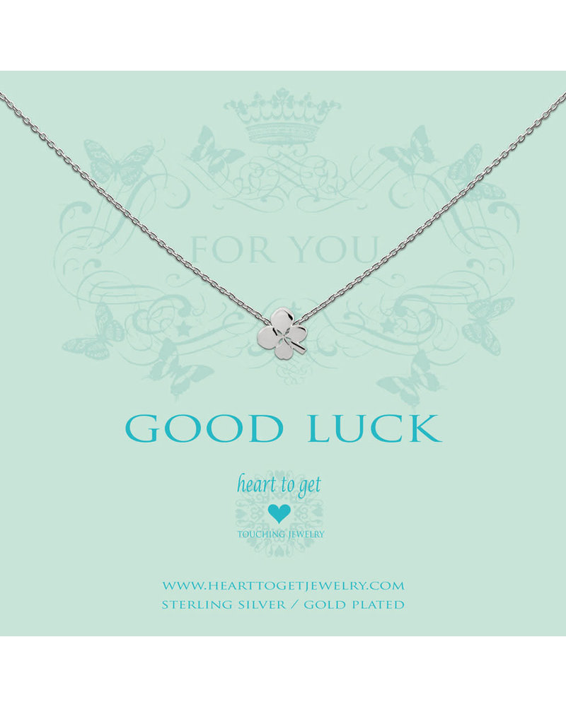Heart To Get Necklace clover silver