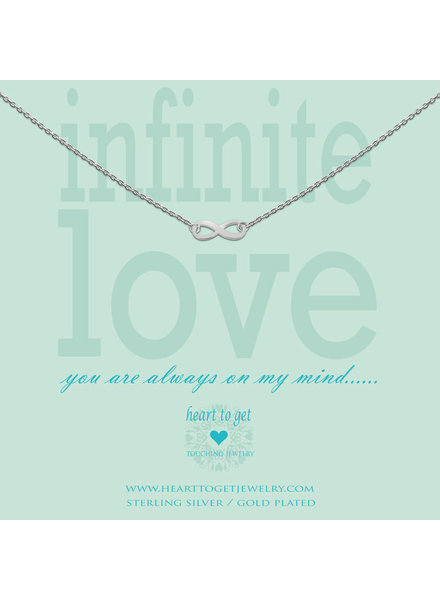 Heart To Get Necklace infinity silver