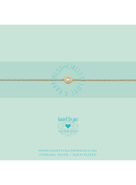 Heart To Get Bracelet Circle zirkon gold