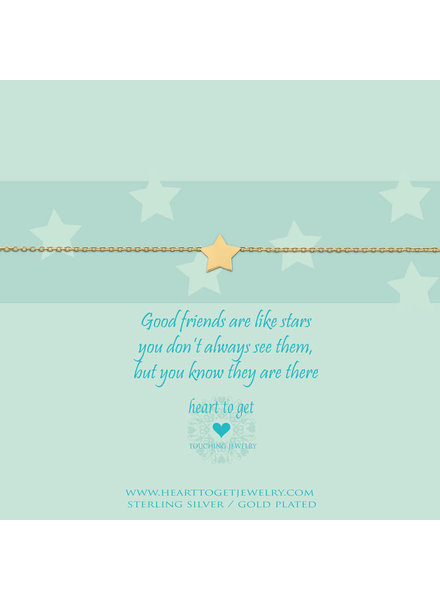 Heart To Get Bracelet star gold