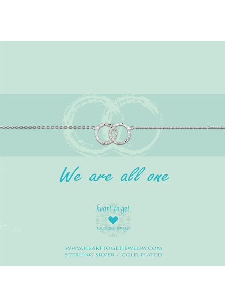 Heart To Get Bracelet double karma rings silver