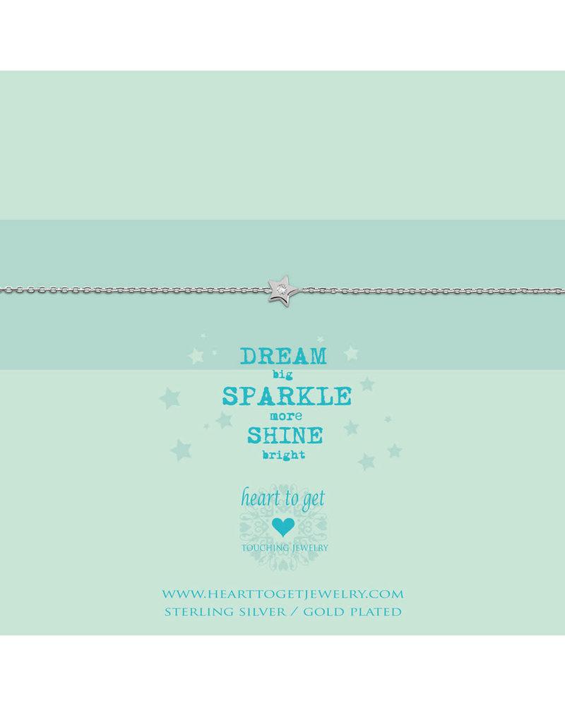 Heart To Get Bracelet Star zirkon silver