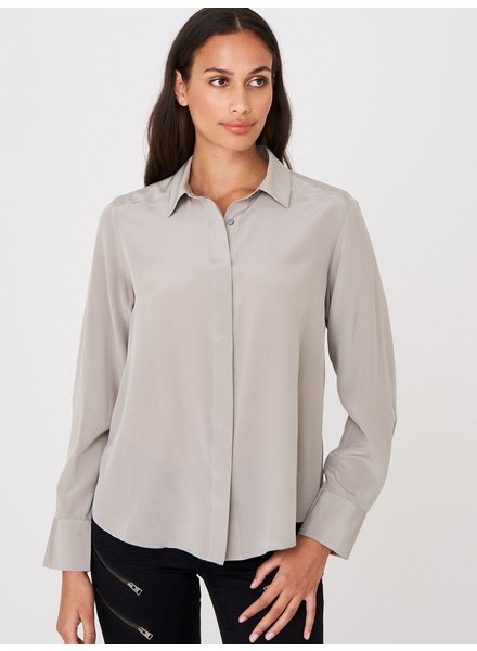 REPEAT cashmere Silk blouse taupe