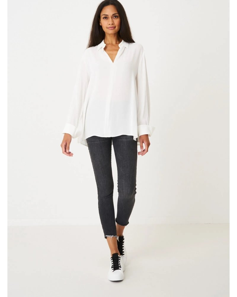 REPEAT cashmere REPEAT viscose blouse cream