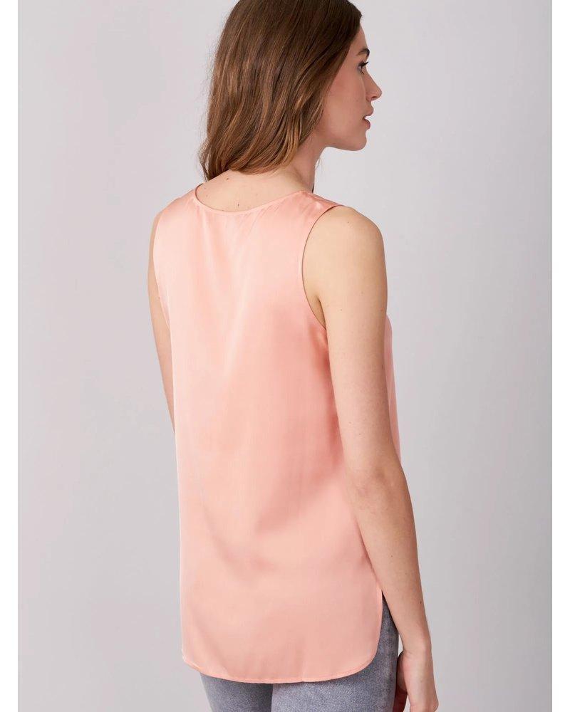 REPEAT cashmere REPEAT silk top blush
