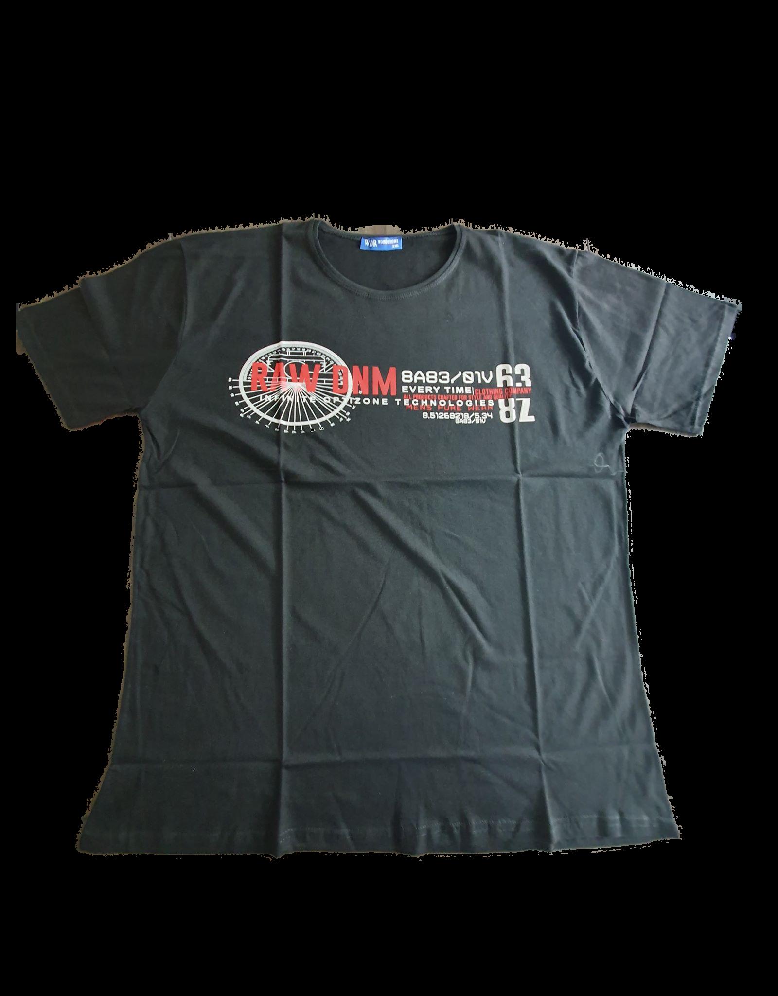 Plus Size heren shirt Zwart