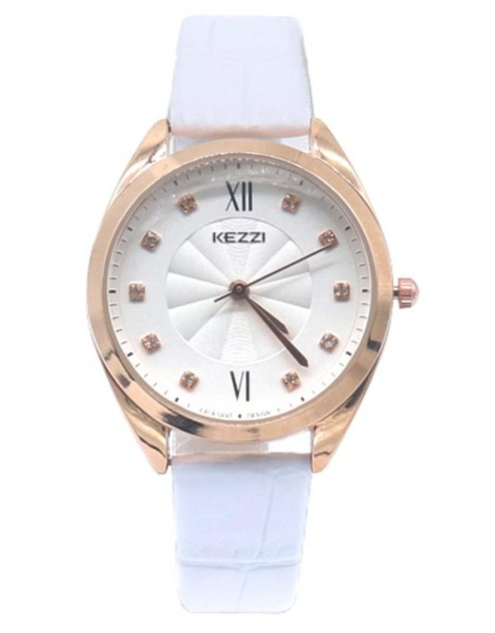 kezzi Croco Watch White