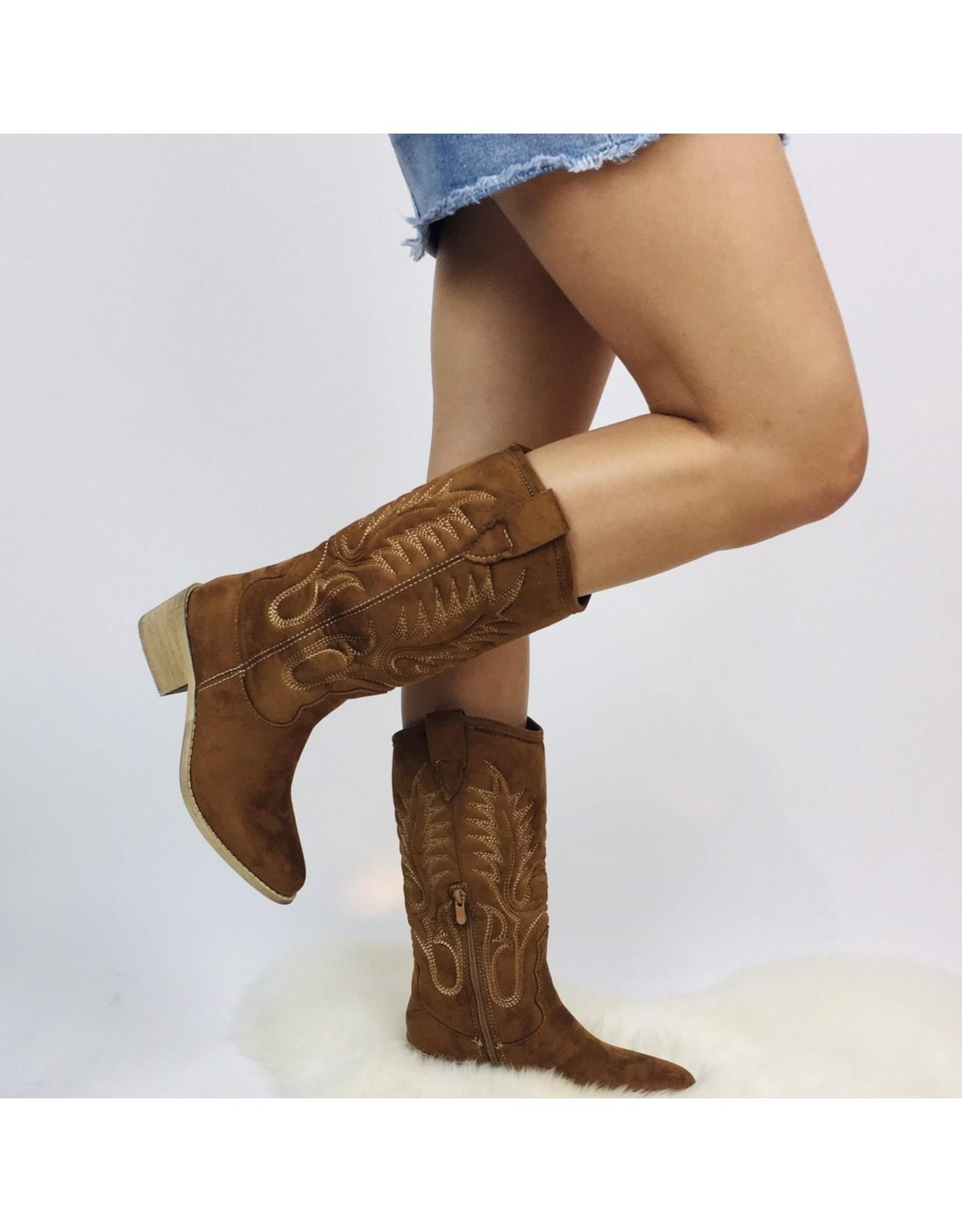 Kayla Cowboy Boot Camel