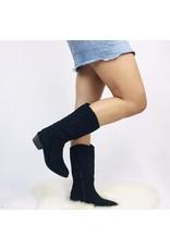Kayla Cowboy Boot Black