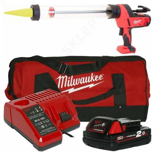 Milwaukee C18 PCG/600T-201B 600ml 18v accu kitspuit set