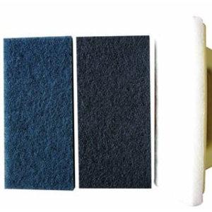 Blauwe pads