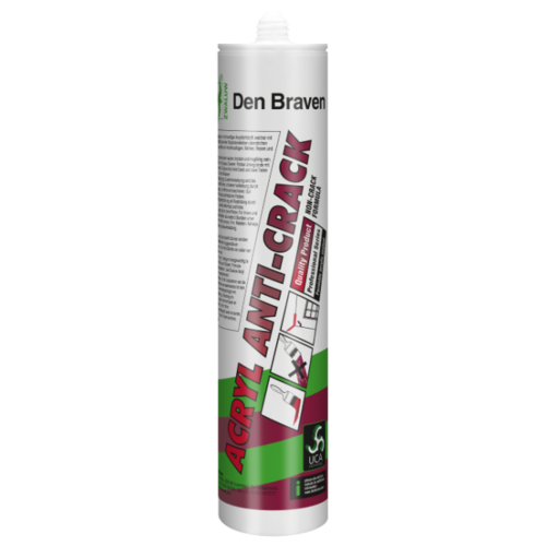 Den Braven Zwaluw Acryl Anti-Crack 310 ml Wit