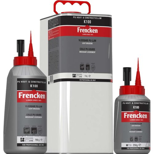Frencken Frenken PU hout- en constructielijm K100 250 gr / 750 gr / 5 kg