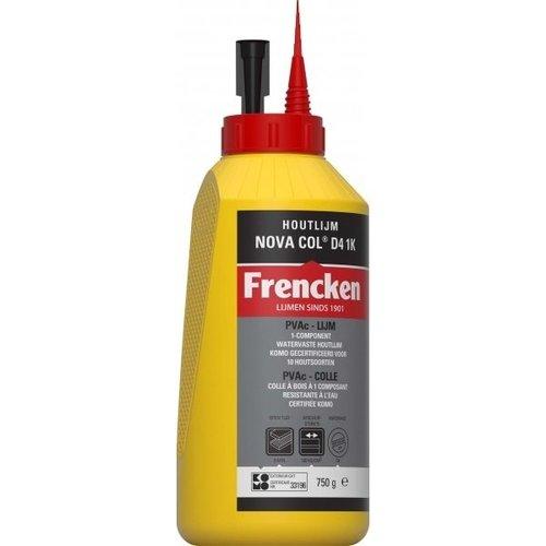 Frencken Frencken Houtlijm Nova Col D4 1K 750 G / 5KG / 10 KG / 25 KG