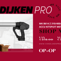 Uitverkoop: Shop nu alle kitspuiten MK B614 Z met accu extra voordelig!