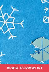 2020 gestickte Schneesterne