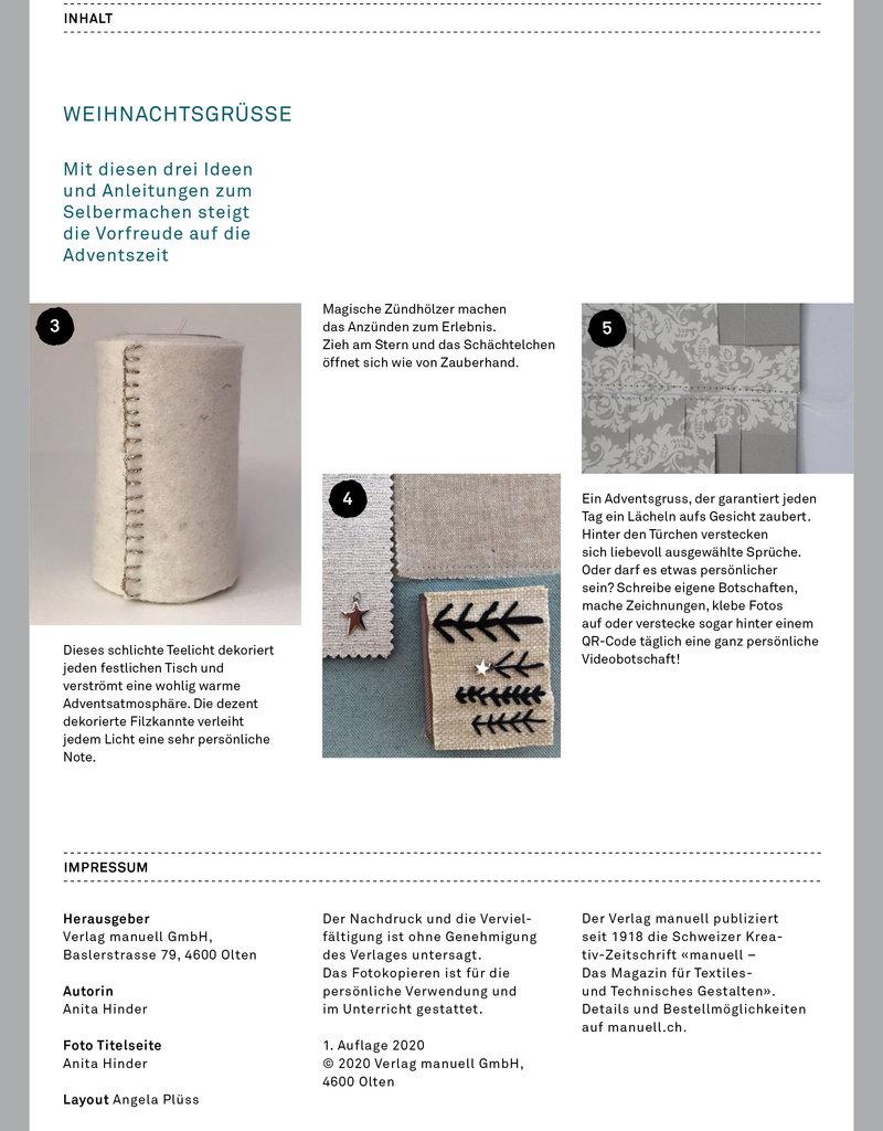 manuell Kreativ-Extra Weihnachtsgrüsse Auflage 2020 – als PDF