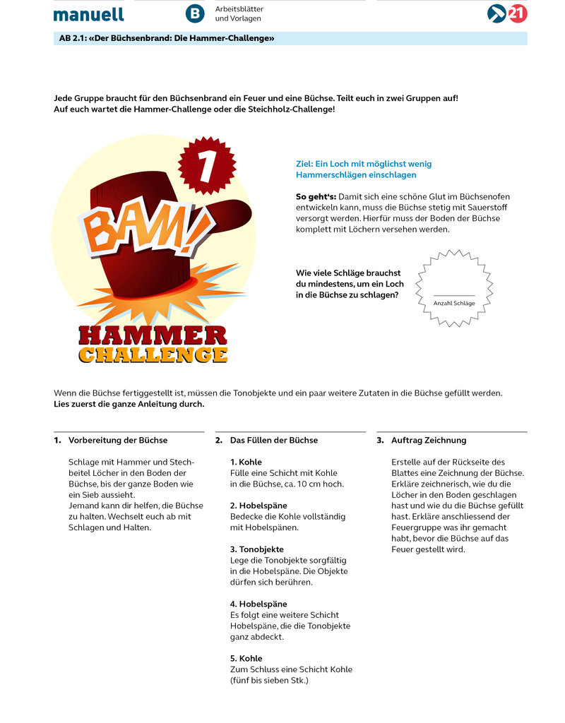 manuell Unterrichtsmaterial Büchsenbrand Zyklus 2+3/als digitales Produkt