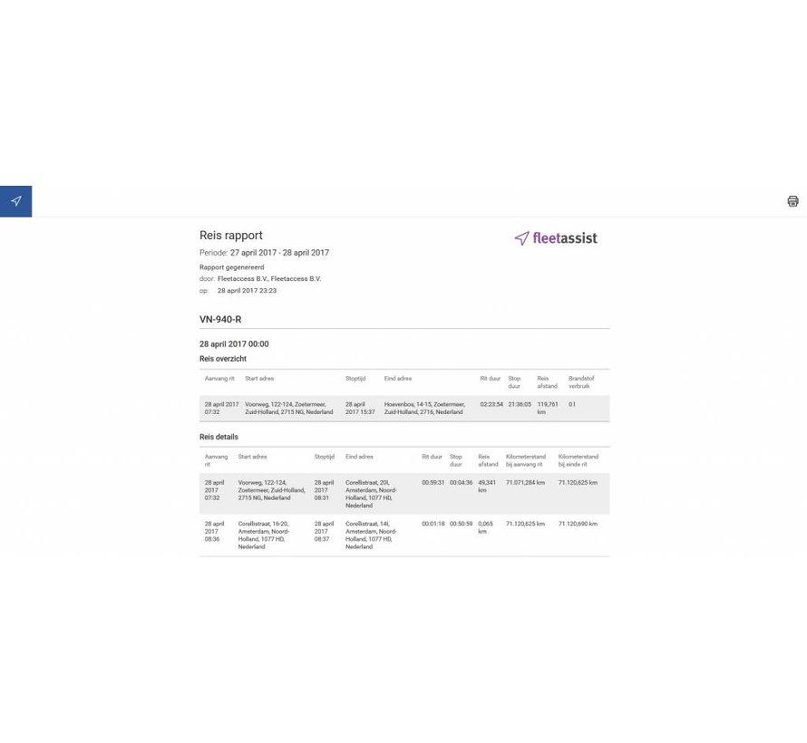 Voertuigvolgsysteem met ritregistratie