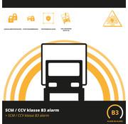 SCM/CCV klasse B3  alarm vrachtwagen