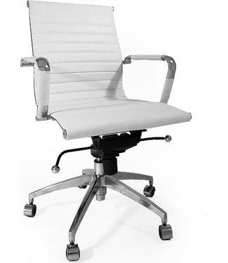 Dimehouse Leren design bureaustoel Soho wit