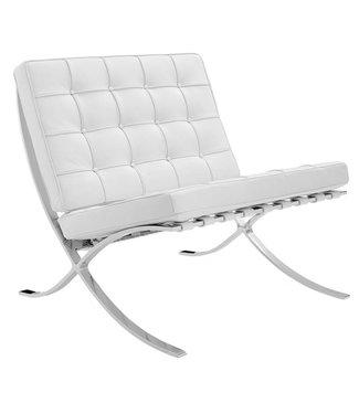Expo fauteuil wit leer