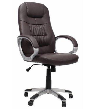 Dimehouse Comfortabele bureaustoel Manager bruin