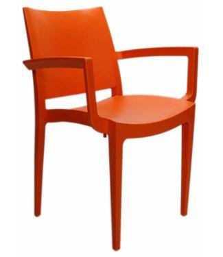 Tuinstoel modern Manou oranje
