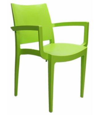 Design wachtkamer-/kantinestoel Muzeval lime groen