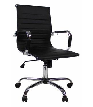 Design bureaustoel Hunter lage rug zwart