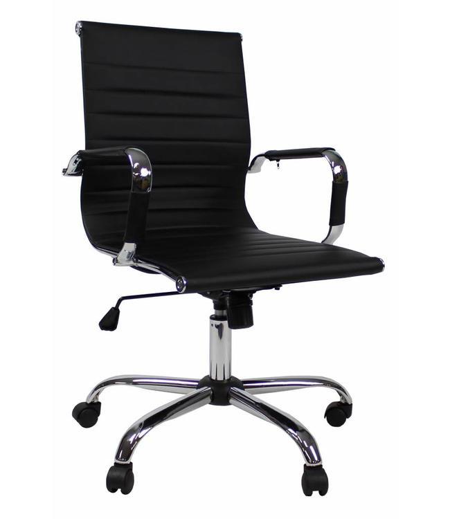 Bureaustoel 60 Cm Zithoogte.Design Bureaustoel Hunter Lage Rug Zwart Dimehouse Mega