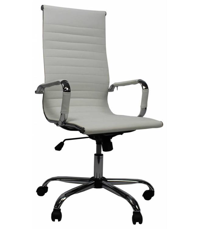 Hoge Bureau Stoel.Bureaustoel Modern Design Mile Hoge Rug Wit Mega Deal Dimehouse