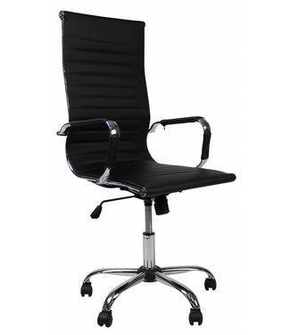 Dimehouse Design bureaustoel Mile hoge rug zwart