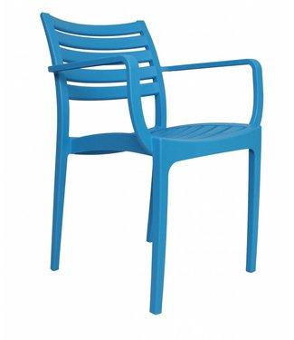 Breaz moderne wachtkamer-/kantinestoel blauw