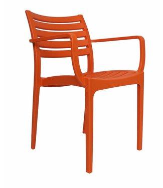 Breaz moderne wachtkamer-/kantinestoel oranje