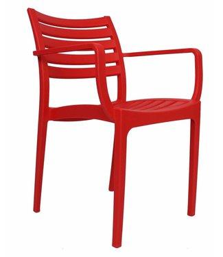 Breaz moderne wachtkamer-/kantinestoel rood
