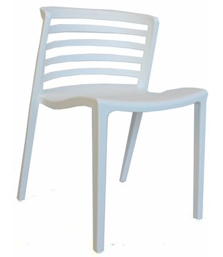 Norrie moderne wachtkamer-/kantinestoel wit