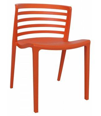 Norrie moderne wachtkamer-/kantinestoel oranje