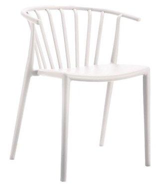Nour moderne wachtkamer-/kantinestoel wit