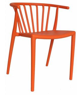 Nour moderne wachtkamer-/kantinestoel oranje