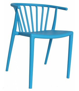 Nour moderne wachtkamer-/kantinestoel blauw