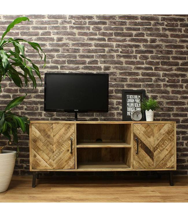 Massief industrieel TV-meubel Lagos