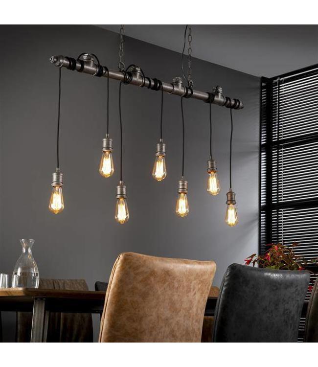 industriële hanglamp loua 7 fittingen | absurde korting - dimehouse